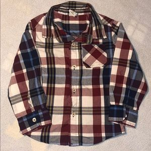 Other - Toddler Fashion Plaid Button Up Shirt Size 3T